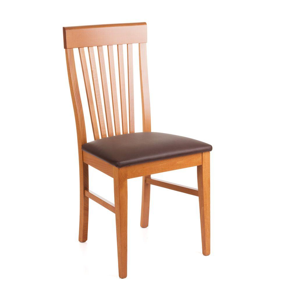 Sedie In Legno Ciliegio.Mu33 Sedia Moderna In Legno Con Seduta Imbottita Diverse Tinte E