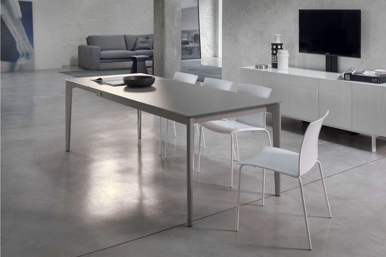 Doto tavolo di design bontempi casa 140 200 x 90 cm for Tavolo di design in metallo