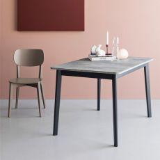 CB4094 Dine - Verlängerbarer Tisch Connubia - Calligaris aus Holz, Platte aus Melamin, in verschiedenen Abmessungen verfügbar