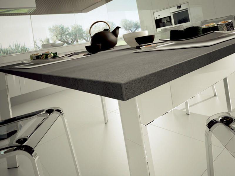 Universe 130 tavolo domitalia in metallo diversi piani for Schiefer arbeitsplatten kuche