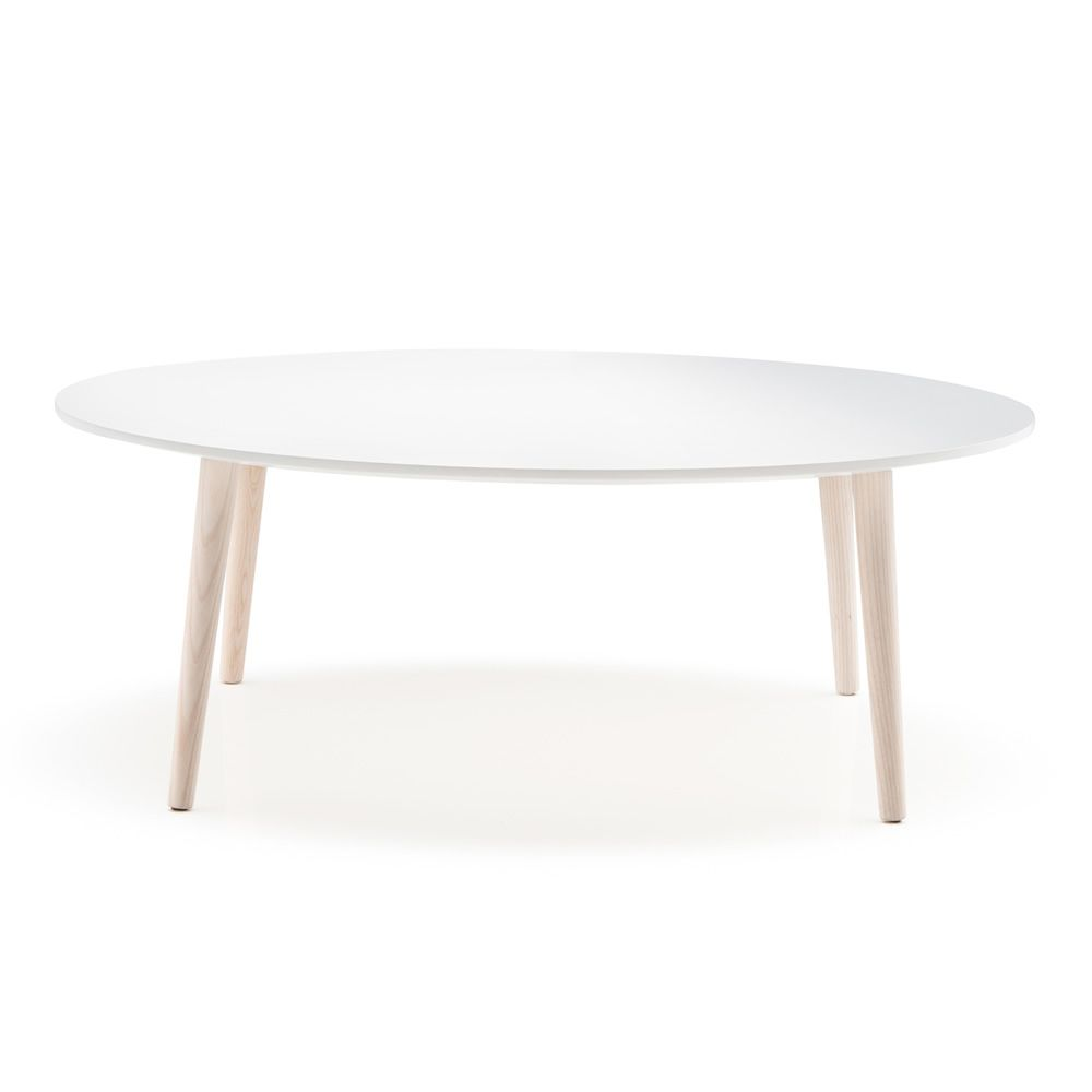Malm 246 T Pedrali Coffee Table In Wood With Round Or