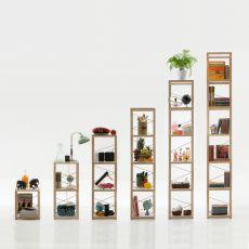 Zia Babele To - Sistema componibile di design, in legno di rovere naturale, disponibile in diverse dimensioni