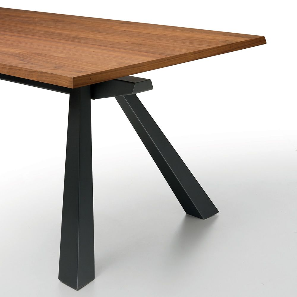 zeus a tisch midj aus metall platte aus furnierholz 200 x 106 cm verl ngerbar sediarreda. Black Bedroom Furniture Sets. Home Design Ideas