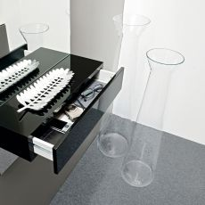 7095 Norha-T - Calligaris vase in transparent glass, different sizes available
