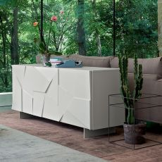 Concrete - Dall'Agnese sideboard made of metal and veneered wood, different colours and sizes available