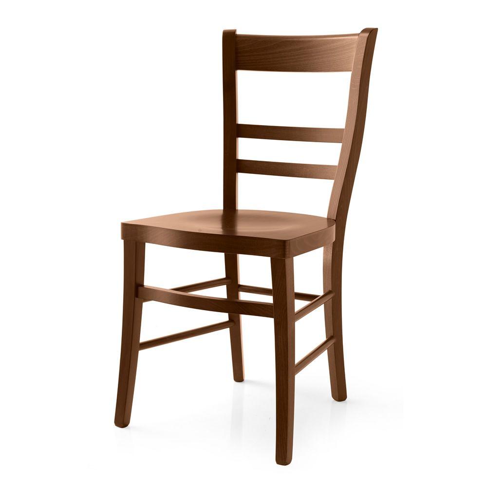120 - Sedia in legno con seduta in multistrato - Sediarreda