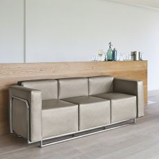 Cocktail 3P - Design 3 seater Sofa with metal structure, available in different finishes and colours