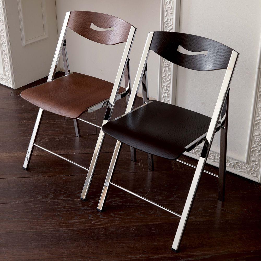 Ripiego w chaise pliante moderne en m tal et bois for Chaise en couleur