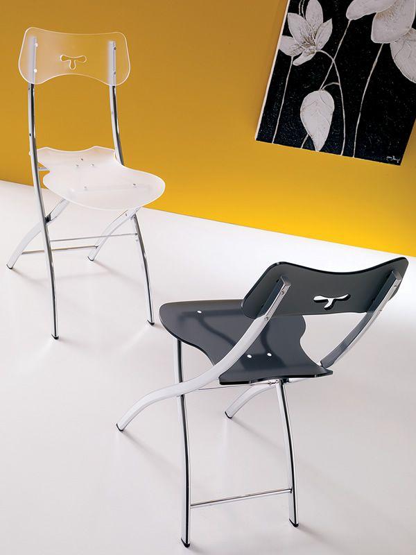 opl chaise pliante moderne en m tal et m thacrylate sediarreda. Black Bedroom Furniture Sets. Home Design Ideas