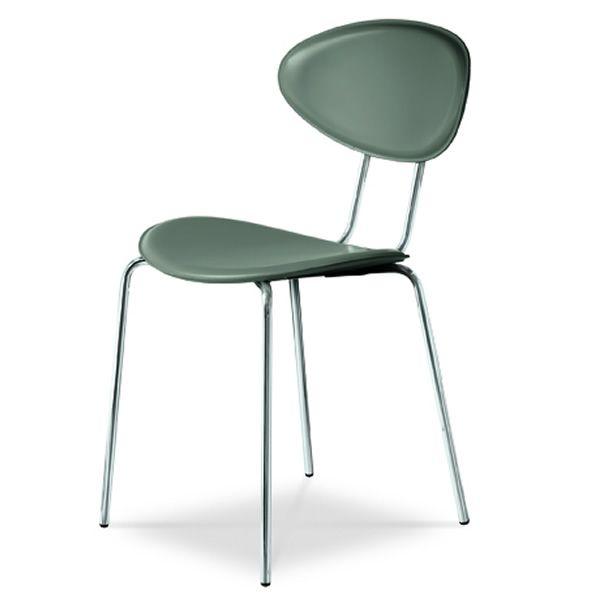 Md023 chaise en m tal et cuir ou similicuir en - Chaise metal cuir ...