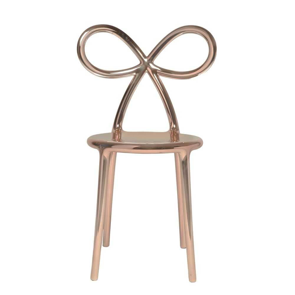 Ribbon chair metal sedia di design qeeboo con schienale - Sedia di design ...