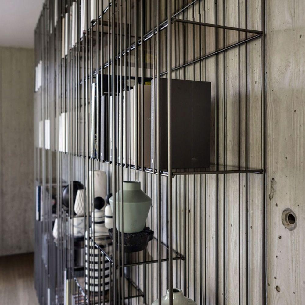 metrica b cherregal mogg aus metall mit einlegeb den aus glas. Black Bedroom Furniture Sets. Home Design Ideas