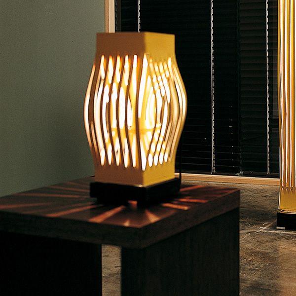 Pellerossa s lampada di design da tavolo in cuoio e - Lampade da tavolo in legno ...