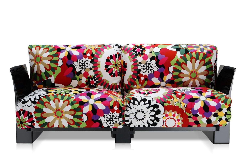 pop missoni sofa canap design kartell 2 ou 3 places structure en polycarbonate coussins. Black Bedroom Furniture Sets. Home Design Ideas