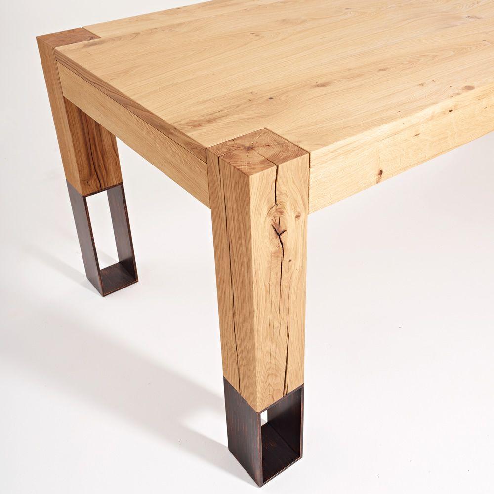 Acqua alta tavolo in legno colico design con gambe in for Tavolo in legno design