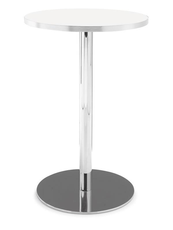 Tavolo alto bianco design casa creativa e mobili ispiratori for Tavolo tondo alto