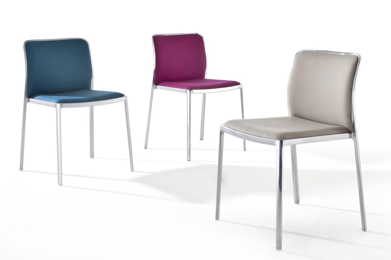 Audrey soft sedia kartell di design in alluminio con for Sedia di design