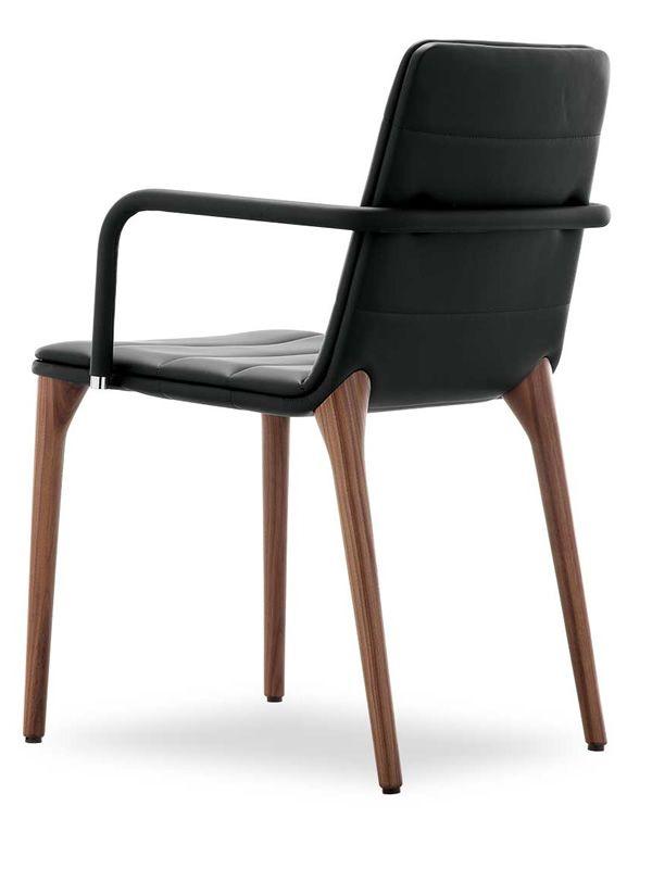Pit p design stuhl von tonon gepolstertes holz for Design stuhl holz leder