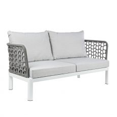 Zante D - Aluminium garden sofa with acrylic straps, cushions with removable covering