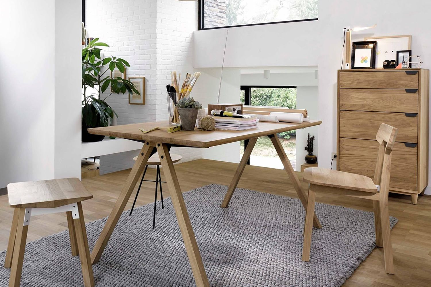 Flow Universo Positivo Wooden Table Different Sizes Available