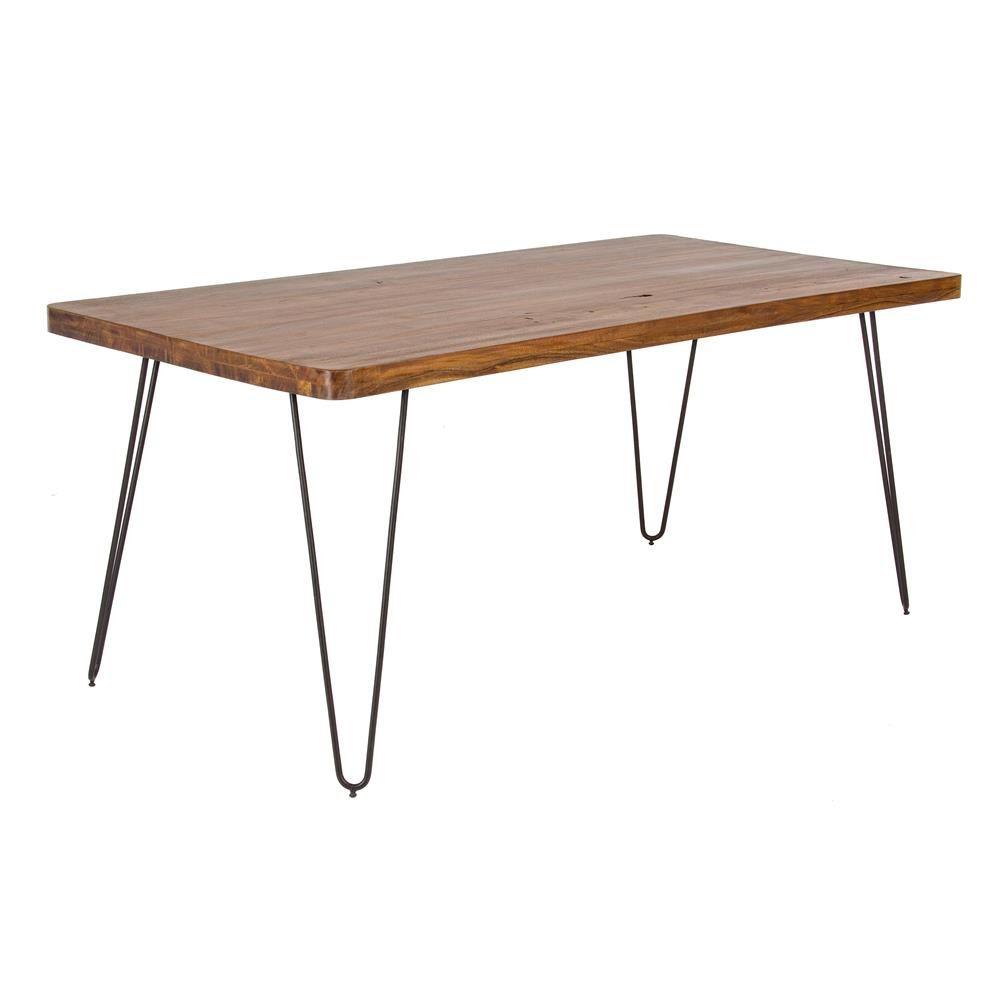 nairobi t table vintage fixe 175x90 cm avec structure en m tal et plateau en bois sediarreda. Black Bedroom Furniture Sets. Home Design Ideas