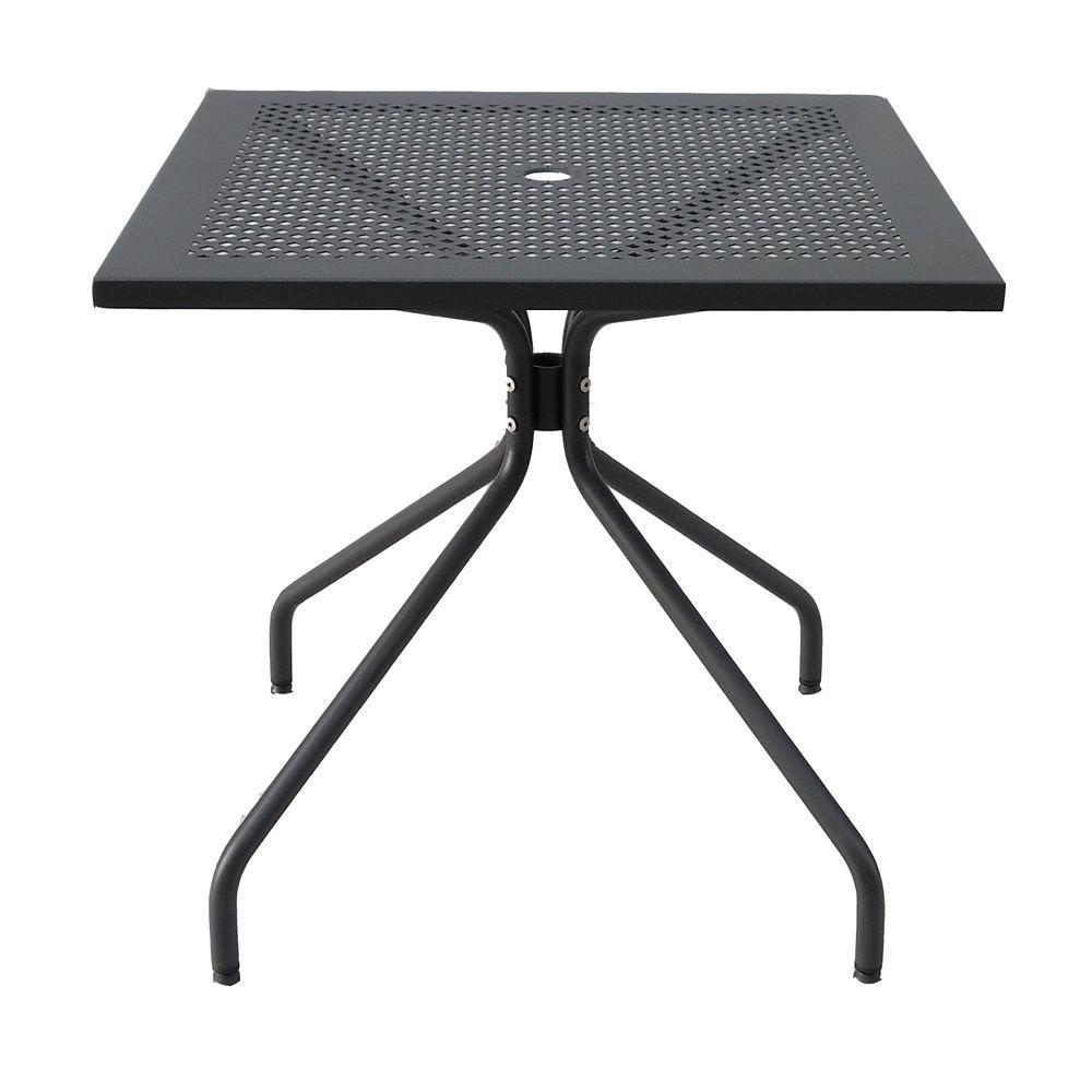 Rig34q tavolo fisso in metallo diverse misure per for Tavoli in metallo per giardino