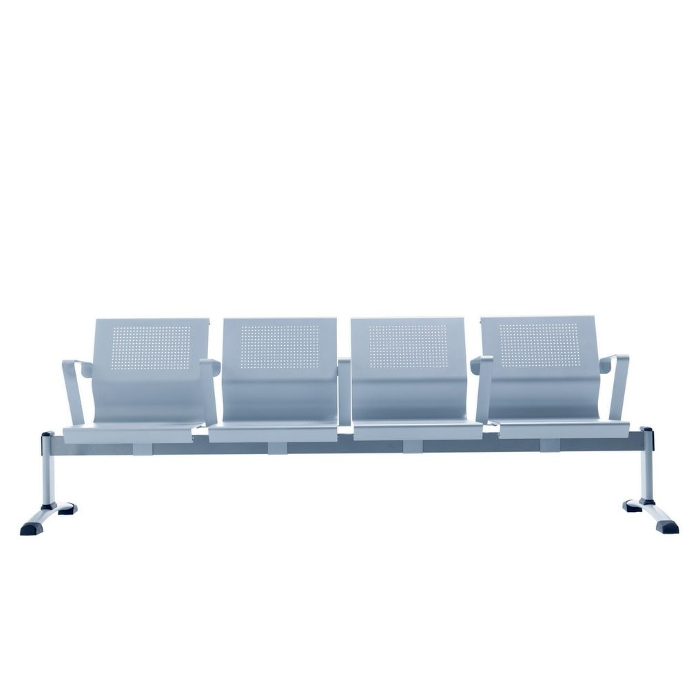 Cluster Bench For Waiting Room With Seats In Metal