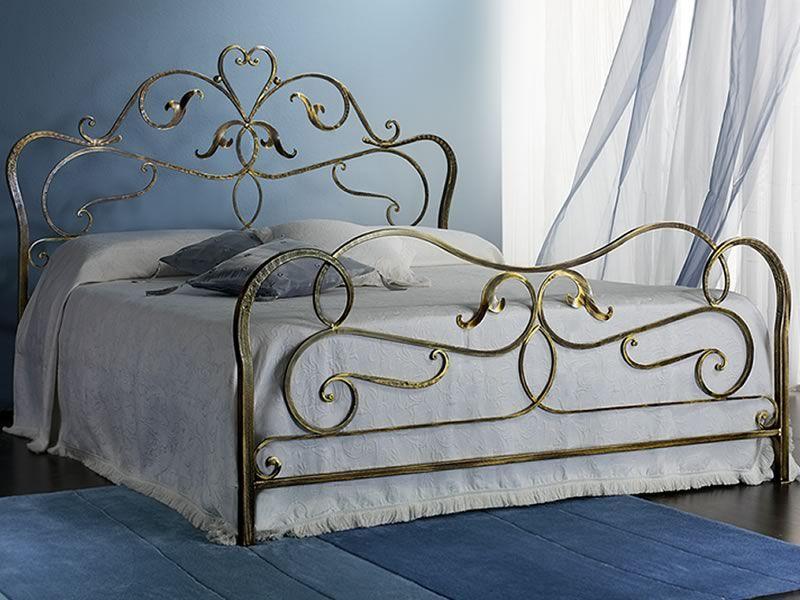 Rubens letto matrimoniale in ferro battuto disponibile in diverse finiture sediarreda - Testata letto matrimoniale ferro battuto ...
