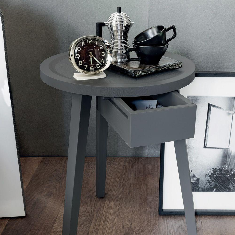 Gray 45 tavolino comodino gervasoni in legno massello - Tavolino comodino ...