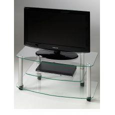 Millenium - Base porta TV in acciaio verniciato con ripiani in vetro