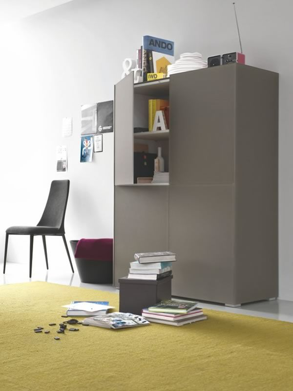 Cs6038 6 shelter meuble buffet pour salon calligaris for Meuble calligaris