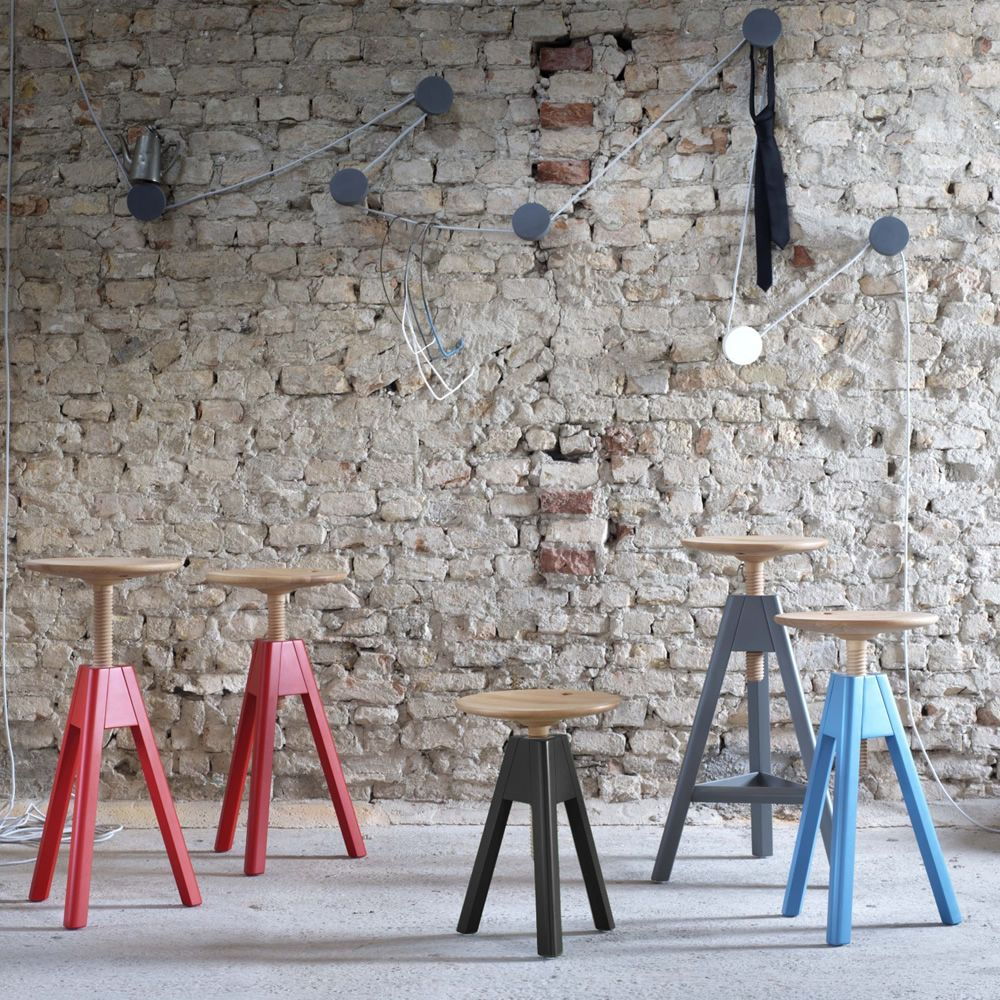 Vitos taburete miniforms de madera regulable en altura - Taburete madera regulable ...