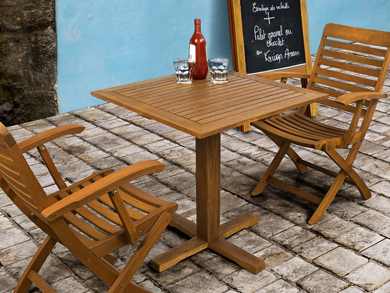 adige pour bars et restaurants table en bois avec plateau carr 70x70 cm id ale pour l. Black Bedroom Furniture Sets. Home Design Ideas