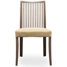 Forma Stick - Sedia moderna Tonon, struttura in legno e seduta imbottita