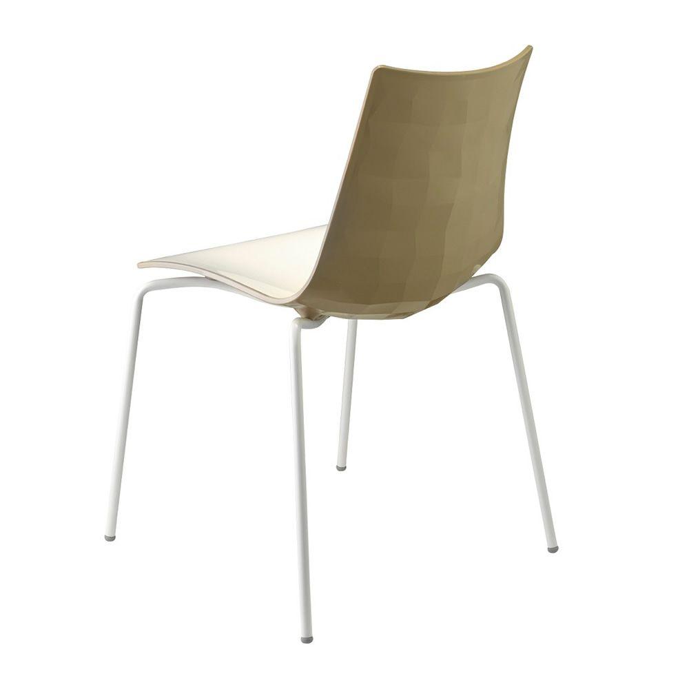 Zebra bicolour 2272 pour bars et restaurants chaise bicolore pour bar en m tal et polym re for Chaise bar couleur