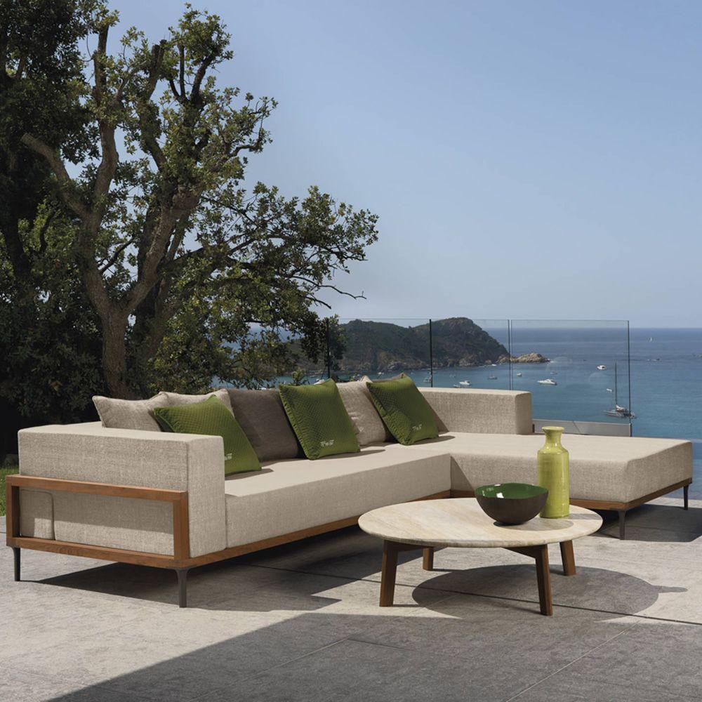 cleo c sofa mit chaiselongue abziehbar f r den garten sediarreda. Black Bedroom Furniture Sets. Home Design Ideas