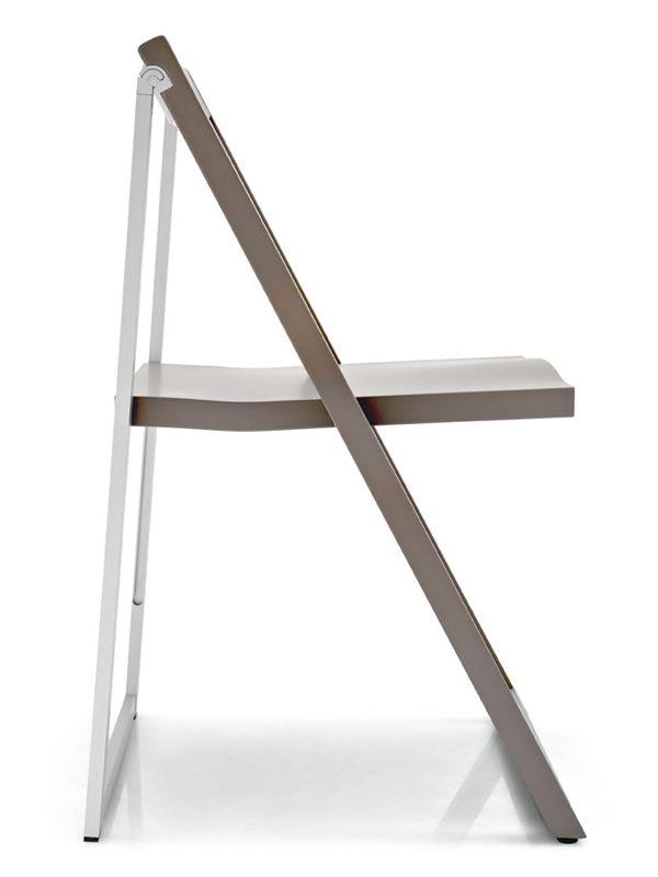 Perfect ... CB207 Skip   Folding Chair Made Of Aluminium And Beech, Matt Dove Grey  Lacquered ...