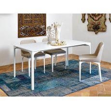 Armando-A - Verlängerbarer Tisch Midj aus Metall mit Platte aus Metall oder Melamin, in verschiedenen Farben verfügbar, Platte 160 X 100 cm