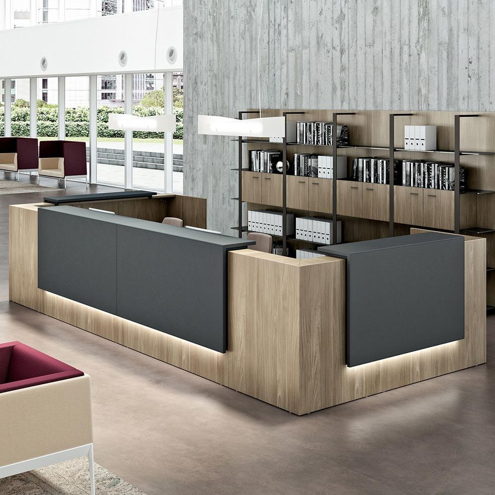 Reception Z2 Office Reception Desk In Wood With Wooden