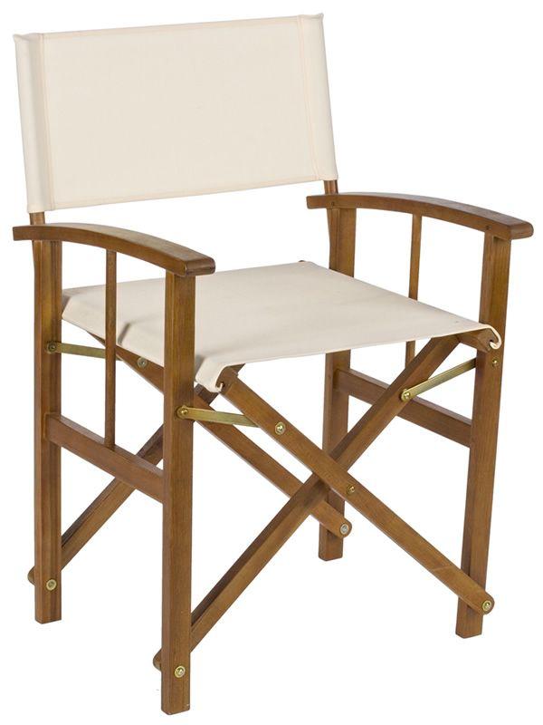 Livenza silla director de madera para jard n sediarreda - Sillas para jardin de plastico ...