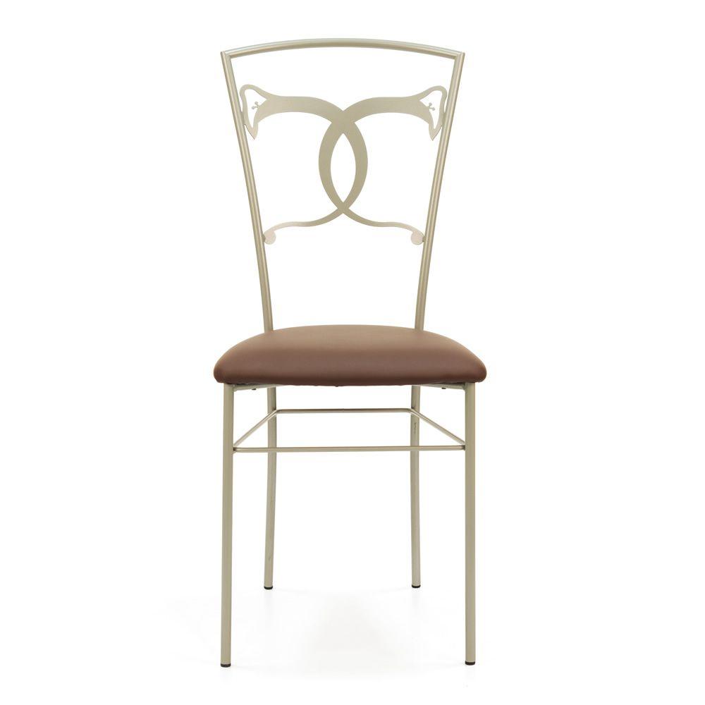 Altea sedia silla de hierro forjado a mano con asiento - Sillas en hierro forjado ...