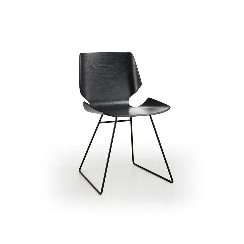 Linz sedia moderna in metallo seduta in legno sediarreda for Sedia wrap