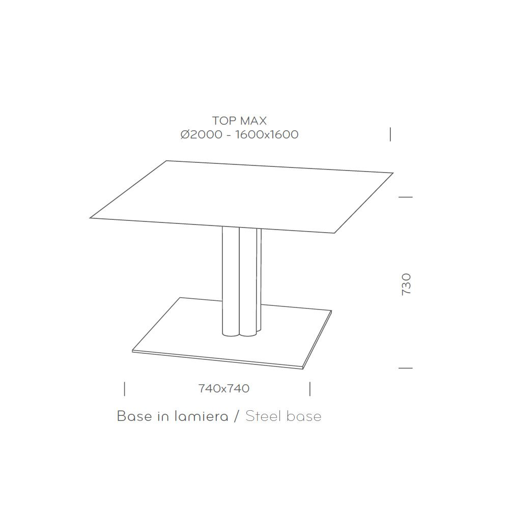 4499 Inox For Bars And Restaurants Big Dimensions Table