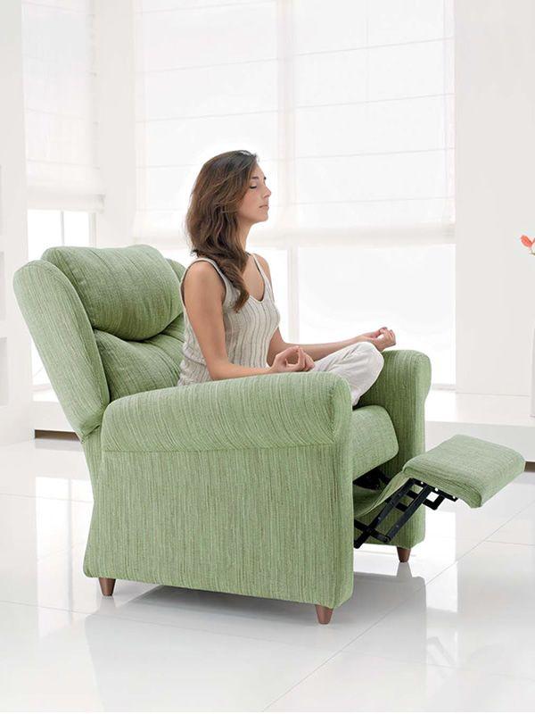 aloe fauteuil global relax manuel en tissu en cuir co responsable ou en cuir sediarreda. Black Bedroom Furniture Sets. Home Design Ideas