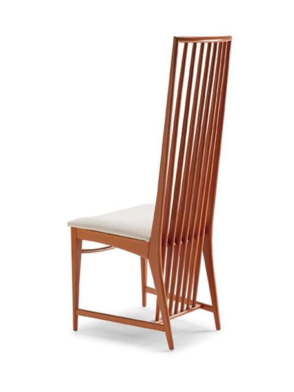 Mito sedia in legno seduta in ecopelle o microfibra for Sedia design ecopelle bianca