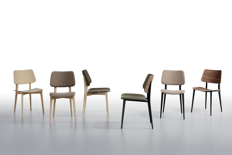 joe chaise midj en m tal avec assise en bois sediarreda. Black Bedroom Furniture Sets. Home Design Ideas