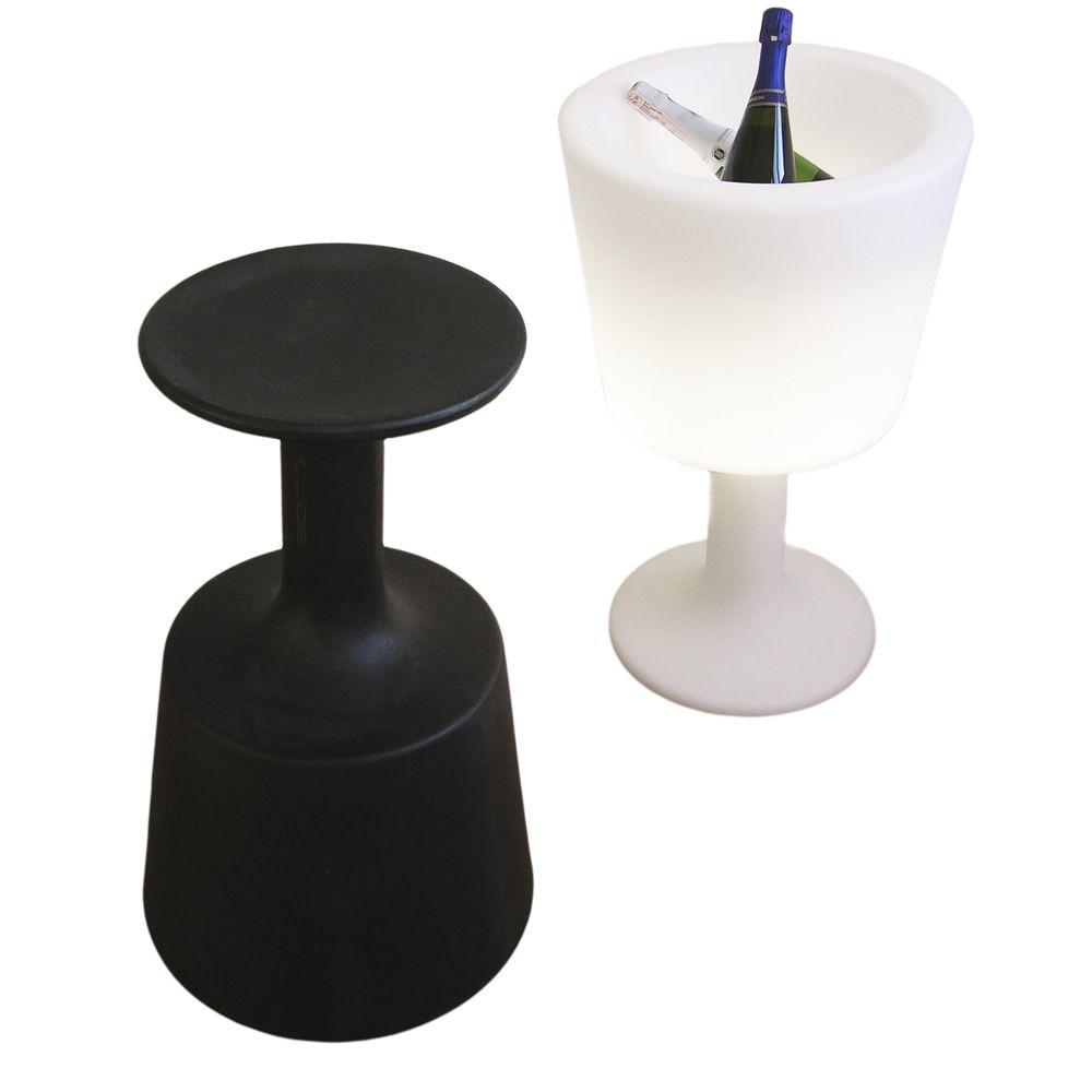 Light drink portabotellas con sistema de iluminaci n l mpara de pie slide en polietileno - Lamparas de polietileno ...