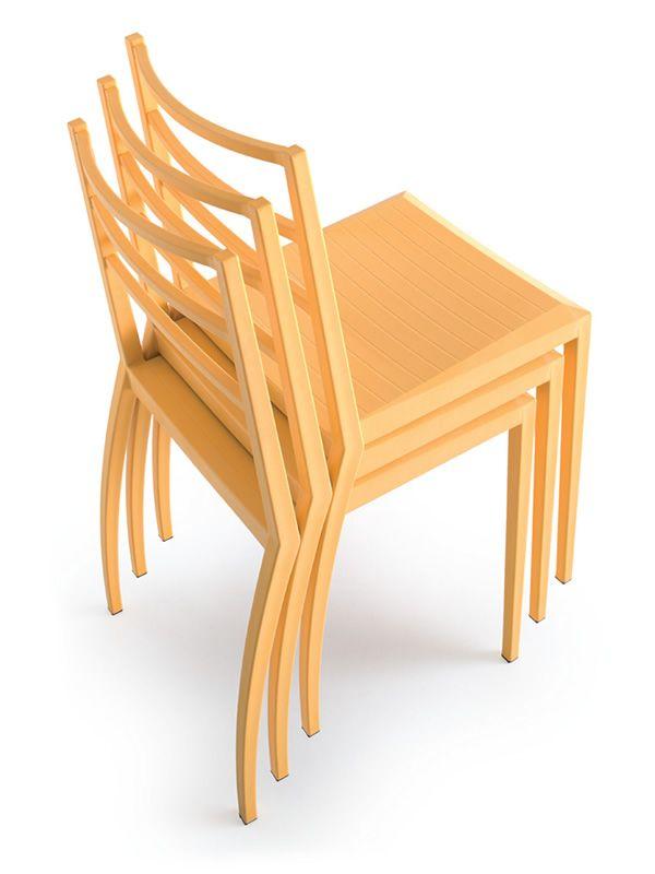 Prisma silla moderna apilable de tecnopol mero de varios for Sillas amarillas