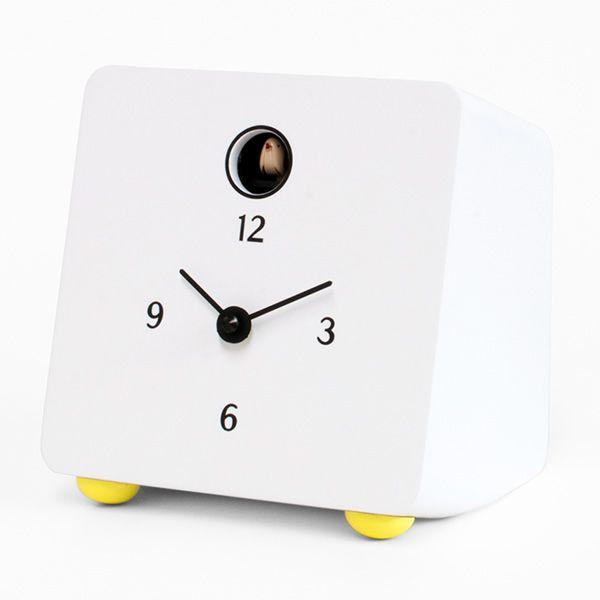 fido horloge coucou de table en bois noir ou blanc sediarreda. Black Bedroom Furniture Sets. Home Design Ideas