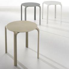 Drop Table - Stapeltisch aus Polypropylen, in verschiedenen Farben und Größen verfügbar, auch für den Außenbereich